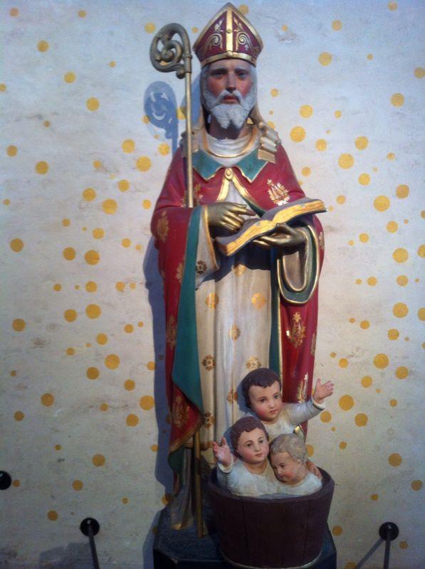 St. Nicolaas beeld in Laurenskerk te Rotterdam.