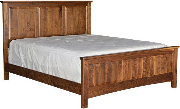 Auburn Solid Wood Twin Bed - Pedestal Bed with Tall Footboard | Stuart David Furniture