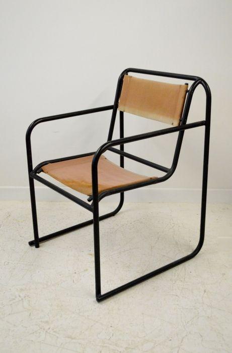 'RP-7' Bauhaus tubular steel chair by Bruno Pollak for PEL,1932