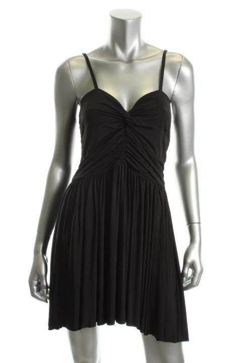 VICTORIA'S SECRET COCKTAIL SEXY LITTLE BLACK DRESS ADJUSTABLE STRAPS SZ.LARGE  #VictoriasSecret #AsymmetricalHem #Cocktail