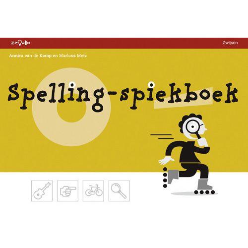Spelling spiekboek. Hier kunnen kinderen de regels van spelling opzoeken. Ook is er ruimte om eigen woorden erbij te schrijven.