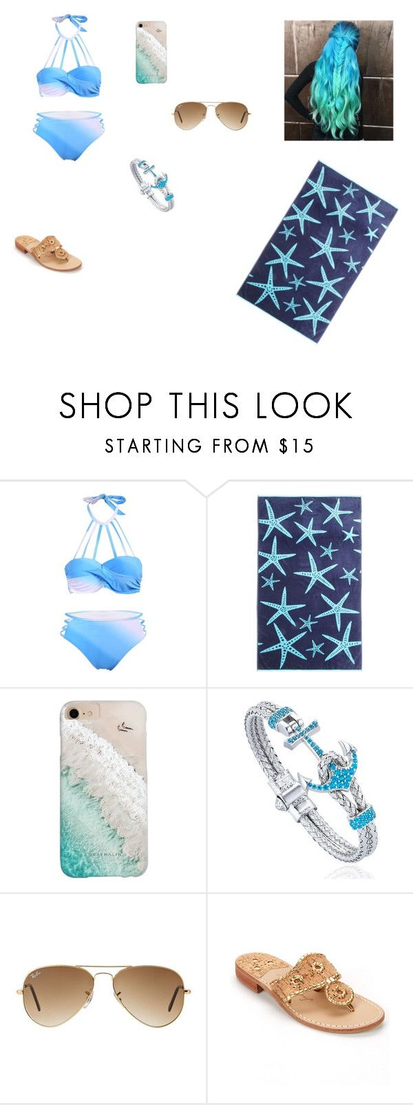 """Untitled #154"" by kaylabethsimpson on Polyvore featuring Panama Jack, Gray Malin, Ray-Ban and Jack Rogers"