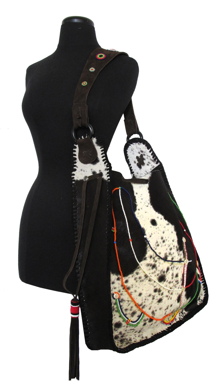 Gaucho Bag - Hair On - with Maasai Beading We deliver worldwide. Order now through sales@annatrzebinski.com or call the Aspen Store today on (970) 925 2848.