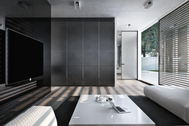 Igor Sirotov's senaste projekt heter Frame och är ett modernt, minimalistiskt hus som specialdesignats för ett ungt par i Kievs förort.