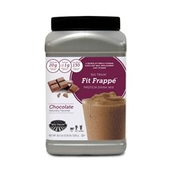 Chocolate Protein Drink/Beverage mix shake powder 2.26 lb Container | Big Train Fit Frappe