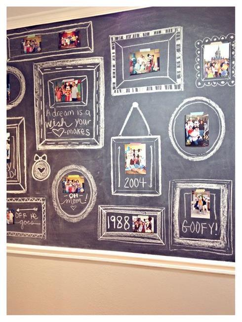 15 utilisations de la peinture à tableau -  Exposition de photos et cadres peinture à tableau noir