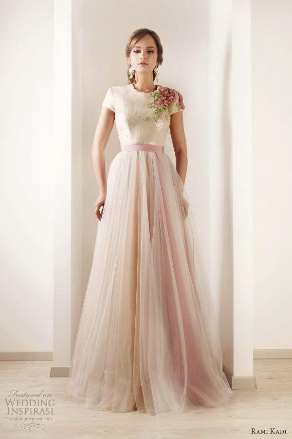 rami kadi bridal hand embroidered tulle wedding gown