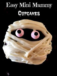The Pintester: Halloween Recipe Review: Easy Mummy Cupcakes