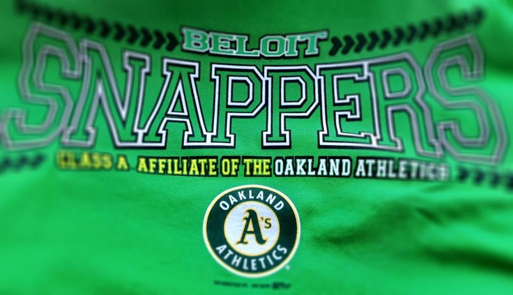 Check out the new Beloit Snappers t-shirts, featuring their new Oakland Athletics affiliation!