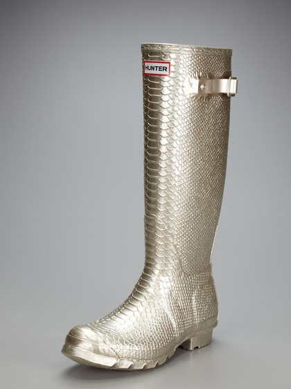 Hunter Carnaby Boa Metallic Rain boot...you always sell out on Gilt before I even have a chance!