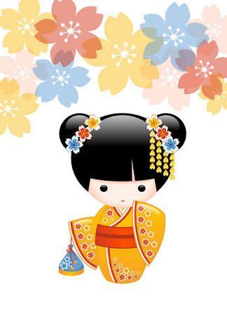 Resultado de imagen para muñeca tela aplicacion kokeshi