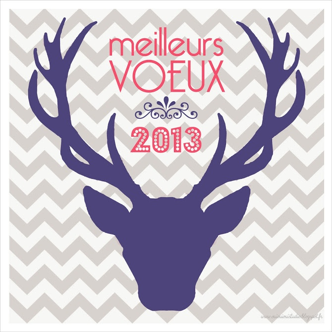 carte de voeux - CERF - ouiouioui studio
