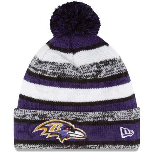 Baltimore Ravens On-Field Sport Sideline Cuffed Knit Hat #ravens #baltimore #nfl