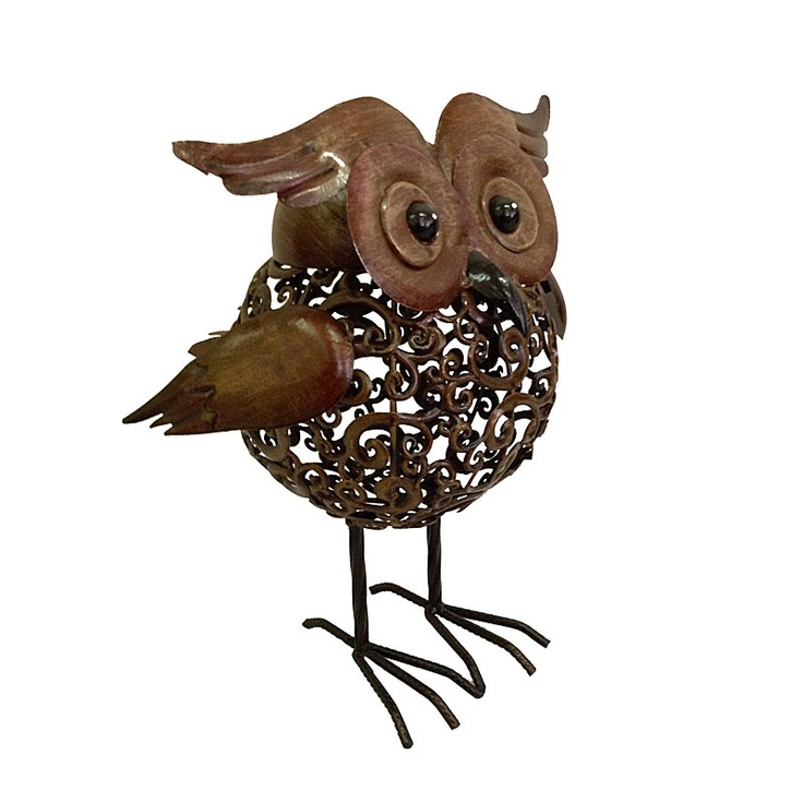 Metal Owl Garden Decor