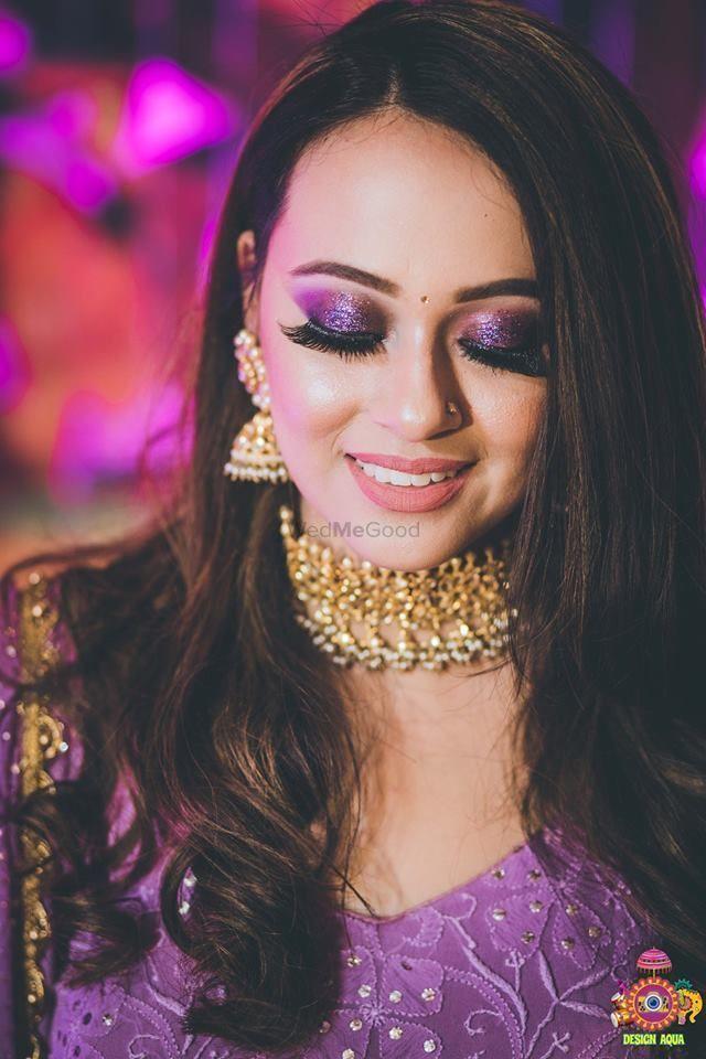 Trending Coloured Smokey Eye Makeup On Brides Bridal Eye