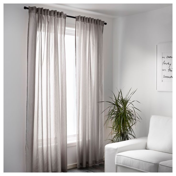Ikea Vivan Curtains 1 Pair The Can Be Used On A Curtain Rod Or Track