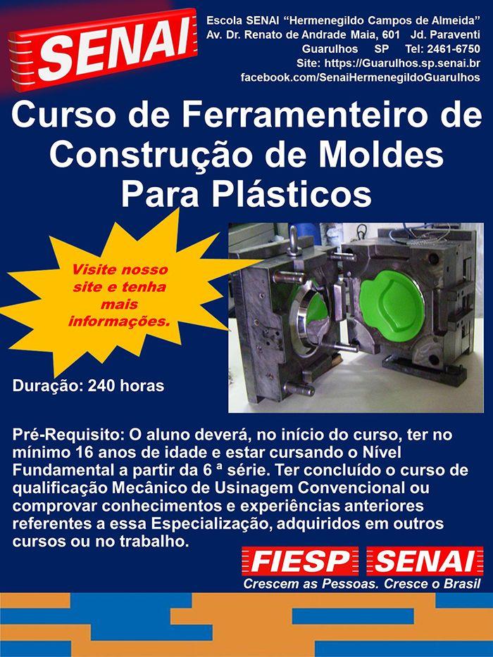 CURSO DE FERRAMENTEIRO DE CONSTRUÇÃO DE MOLDES PLÁSTICOS
