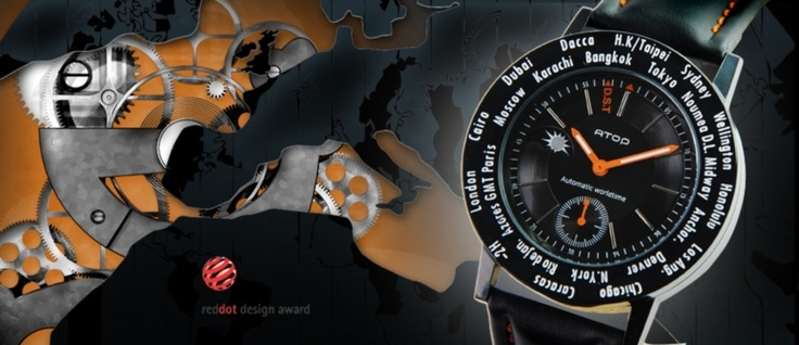 Atop WWB serisi, gerçek deri kayış #saat #atopwatches #worldtime