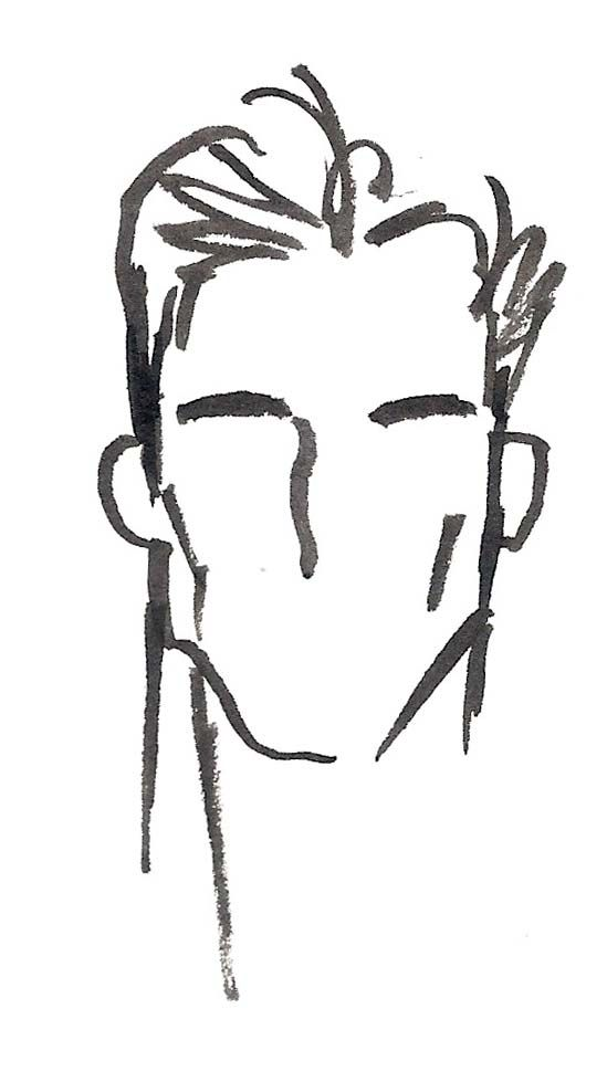 Line Drawing Male Face : Best male faces ideas on pinterest face brown