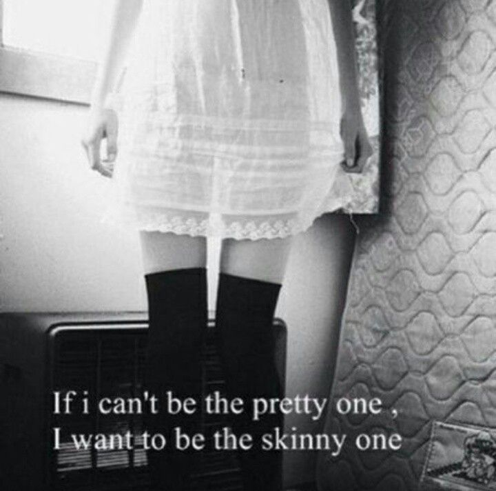I'd rather be skinny than a pig. I don't care if I'm not the pretty one anymore ~Jillian
