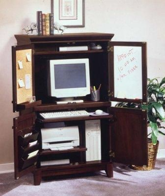 home styles home office computer armoire coffee finish
