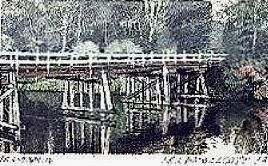 Old wooden bridge. N.S.W.