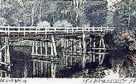 Old wooden bridge. N.S.W.