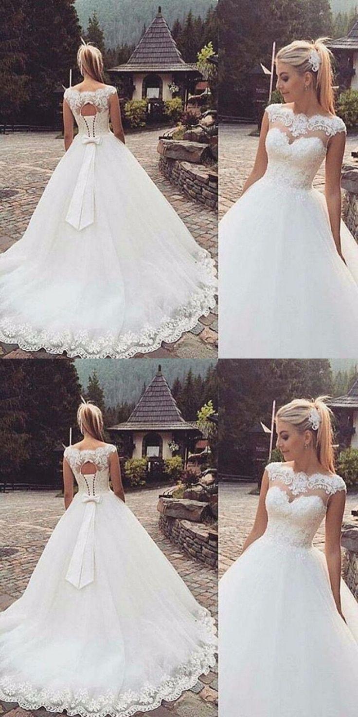 Wedding Dresses New White Ivory Wedding Dress Bridal Gown Custom Size 6 8 10 12 14 16 18 Buy It Now Wedding Dresses Wedding Dresses Lace Ball Gowns Wedding