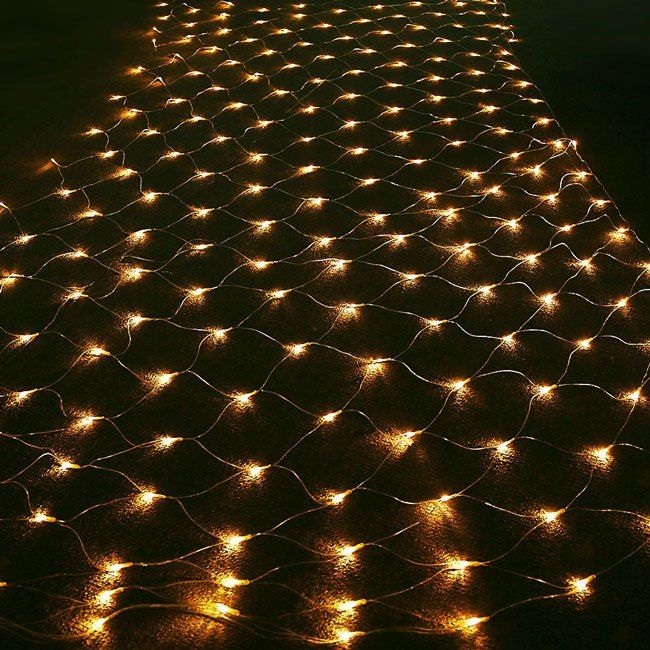 Led Outside Warm White Christmas Net Lights Net Lights Christmas Net Lights Christmas Light Installation