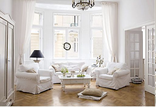 ikea: Rooms Layout, Ikea Slipcovers, All White, White Living, Ikea Ektorp, White Rooms, White Sofa, Sit Rooms, Living Rooms Furniture