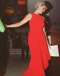 「princess diana red dress australia」の画像検索結果