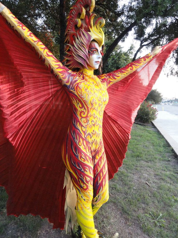 an amazing how to! a gorgeous, handpainted phoenix costume-- step by step!!