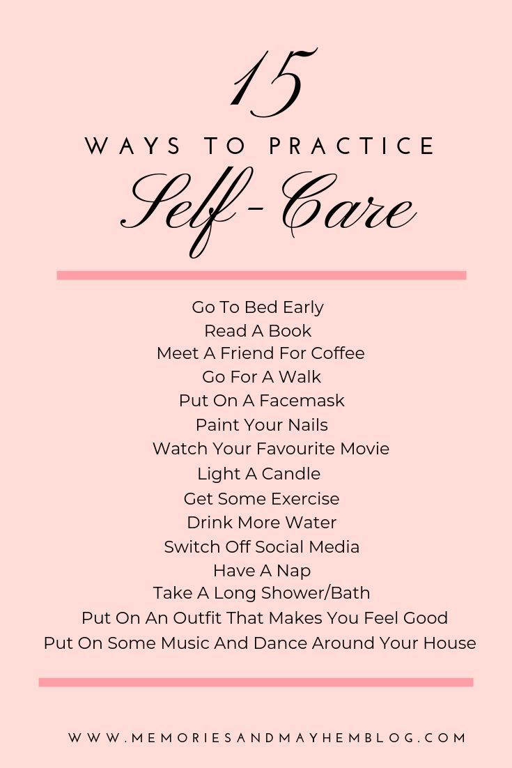 15 easy and quick ways to add some self-care into your daily and weekly routine