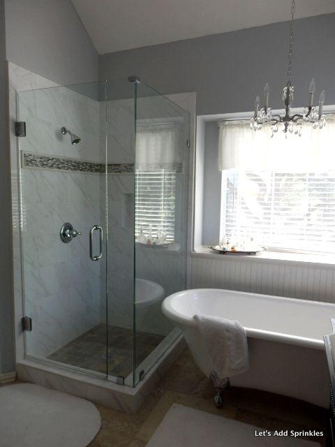 25 best master bath shower ideas on pinterest shower - Design for small bathroom with tub ...
