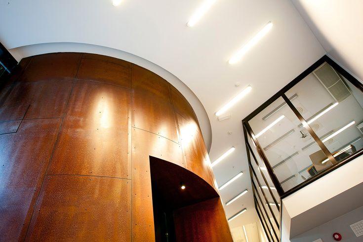 PILESTREDET-corten rotunda and meeting room