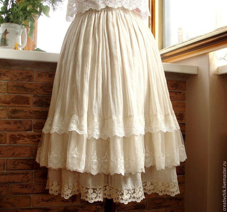 Купить Юбочка для настоящей принцессы - белый, однотонный, юбка, летняя юбка, лето 2015