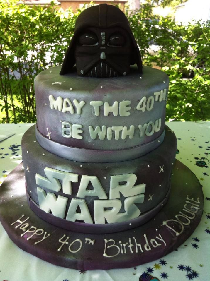 40th Star Wars Birthday Cake Cakes Pinterest Party