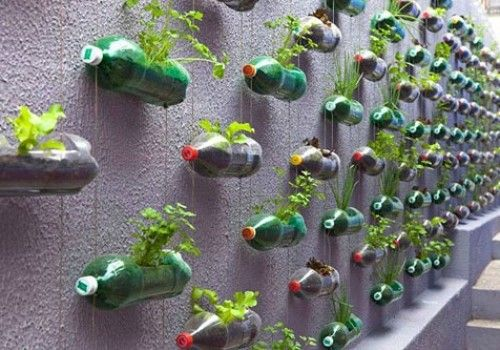 Creative products from old plastic bottles
