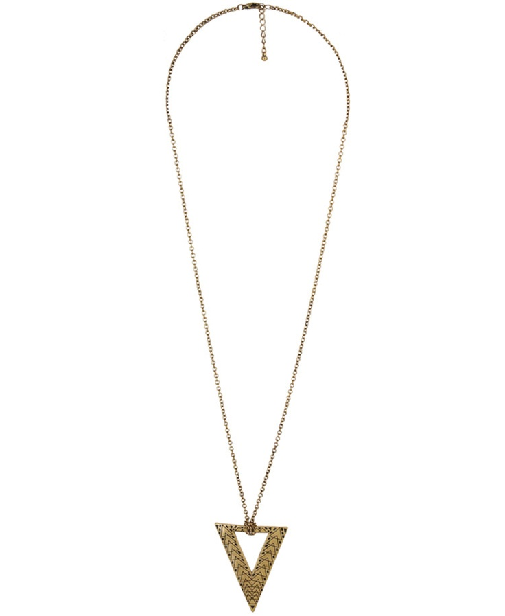 Forever 21 Triangle Pendant Necklace