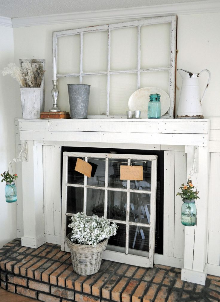 Laurieanna 39 s vintage home featured farmhouse october for Farmhouse fireplace decor