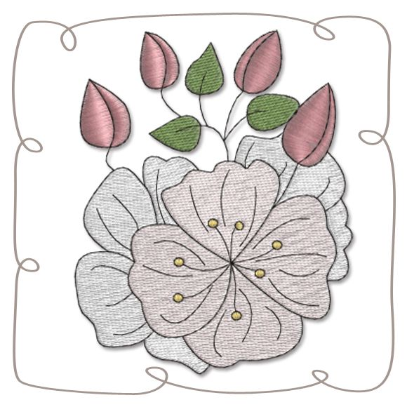 Cherry Blossom Machine EMbroidery Design pattern-INSTANT DOWNLOAD