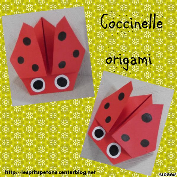 Coccinelle origami