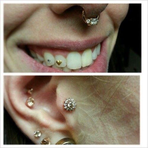 Flower Tattoo With Dermal Piercing: 235 Best Images About Body Mods On Pinterest