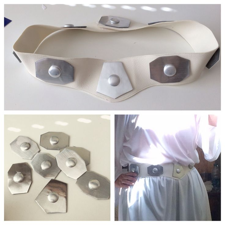 Princess Leia belt made for running costume - Star Wars Rebel 10K Half Marathon - RunDisney - Running Costume - Made with vinyl upholstery fabric, foam sheet, metallic ConTact paper, cover button refills and a glue gun - Super Lightweight!
