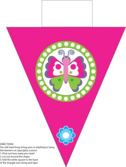 Butterfly Banner Party Decorations