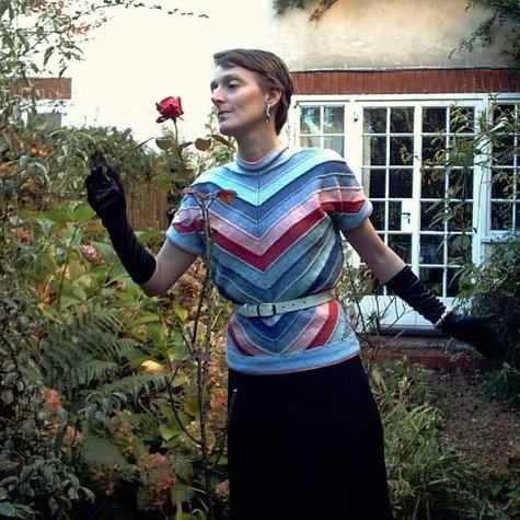 Gorgeous 50s bias-knit sweater