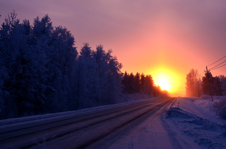 Sunset in Kainiemi, Nurmes