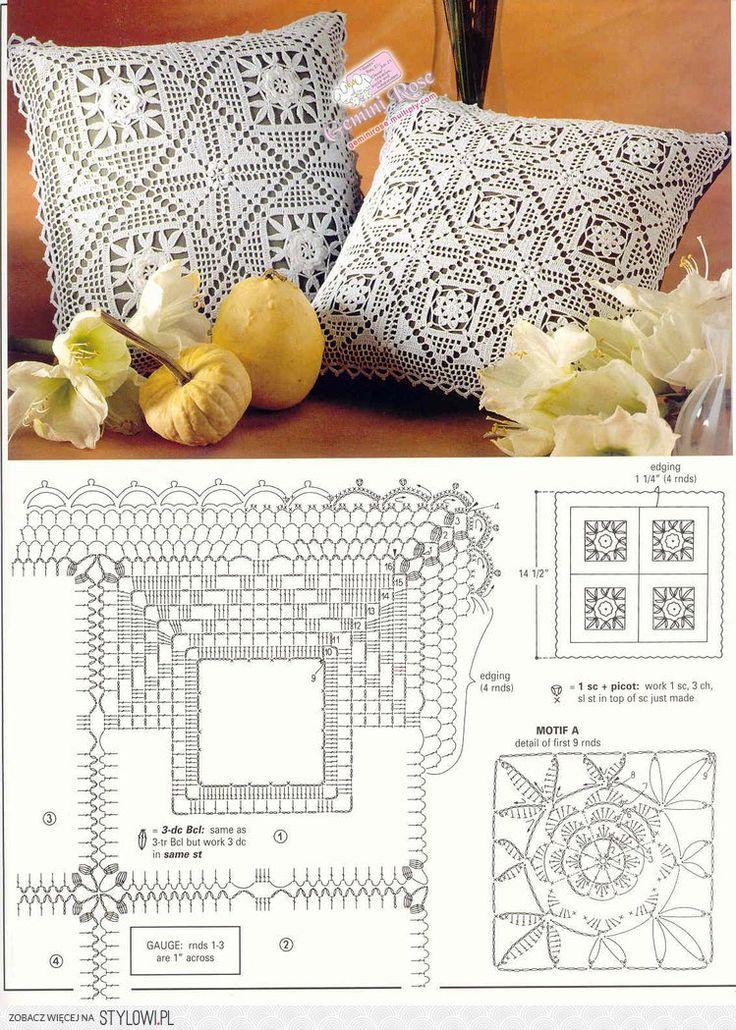 Mejores 24 imágenes de Pillows en Pinterest | Cojines de ganchillo ...
