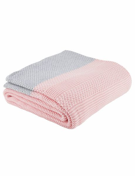 Alexi is a generously-sized cot blanket perfect for the nursery and beyond. Knitted in beautiful 100% cotton yarns and in classic colours, the blanket is bordered with a tweed edge stitch and dipped white ends.