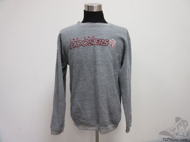 Starter Indiana Hoosiers Crewneck Sweatshirt sz M Medium SEWN IU University  #Starter #IndianaHoosiers  #tcpkickz